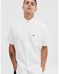 Camisa de manga corta blanca de Lacoste