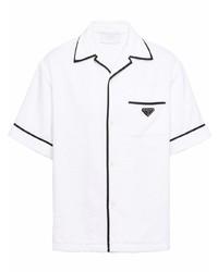 Camisa de manga corta blanca de Prada