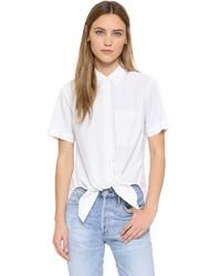 Camisa de manga corta blanca de Theory