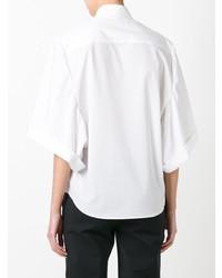 Camisa de Manga Corta Blanca de Veronique Branquinho