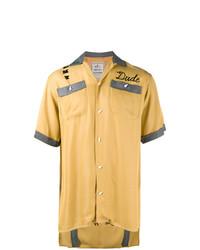 Camisa de manga corta bordada amarilla de Maison Mihara Yasuhiro