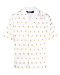 Camisa de manga corta bordada blanca de Jacquemus