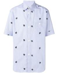 Camisa de manga corta bordada celeste de Kenzo