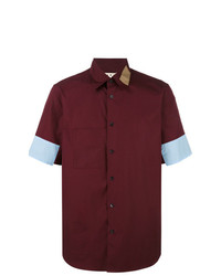 Camisa de manga corta burdeos de Marni