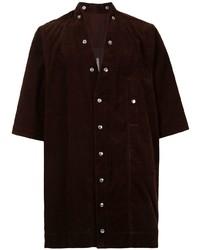 Camisa de manga corta burdeos de Rick Owens