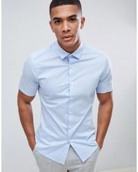 Camisa de manga corta celeste de ASOS DESIGN