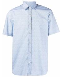 Camisa de manga corta celeste de Canali