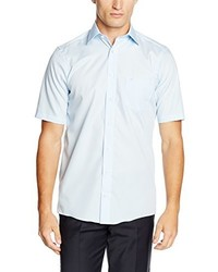 Camisa de manga corta celeste de Casamoda
