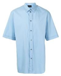 Camisa de manga corta celeste de Emporio Armani