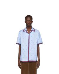 Camisa de manga corta celeste de Gucci