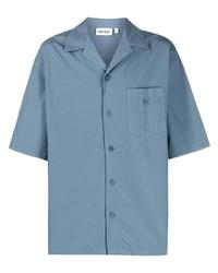 Camisa de manga corta celeste de Kenzo