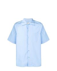 Camisa de manga corta celeste de Marni