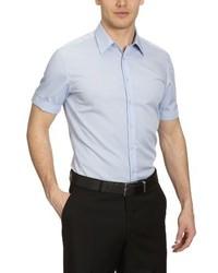 Camisa de manga corta celeste de Seidensticker