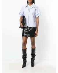 Camisa de manga corta celeste de T by Alexander Wang