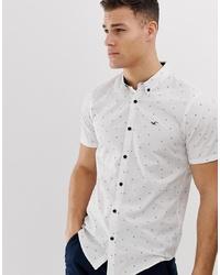Camisa de manga corta con estampado geométrico blanca de Hollister