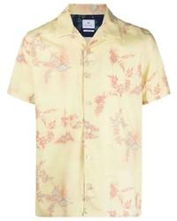Camisa de manga corta con print de flores amarilla de Paul Smith