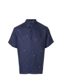 Camisa de manga corta con print de flores azul marino de Jupe By Jackie