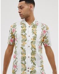 Camisa de manga corta con print de flores blanca de Bellfield