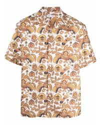 Camisa de manga corta con print de flores blanca de Cmmn Swdn