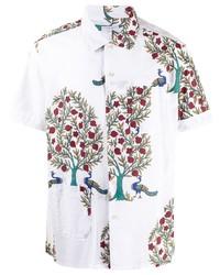 Camisa de manga corta con print de flores blanca de Engineered Garments