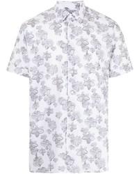 Camisa de manga corta con print de flores blanca de Karl Lagerfeld