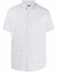 Camisa de manga corta con print de flores blanca de Michael Kors