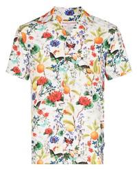 Camisa de manga corta con print de flores blanca de Orlebar Brown