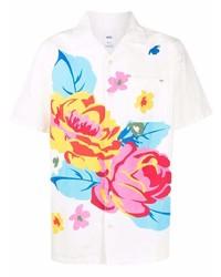 Camisa de manga corta con print de flores blanca de Vans