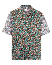 Camisa de manga corta con print de flores en multicolor de Paul Smith