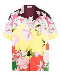 Camisa de manga corta con print de flores en multicolor de Valentino