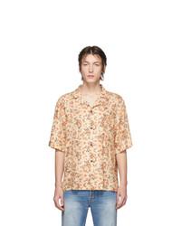 Camisa de manga corta con print de flores naranja de Acne Studios