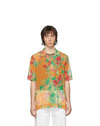 Camisa de manga corta con print de flores naranja de Dries Van Noten