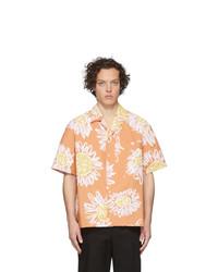 Camisa de manga corta con print de flores naranja de Jacquemus