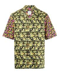 Camisa de manga corta con print de flores negra de Paul Smith