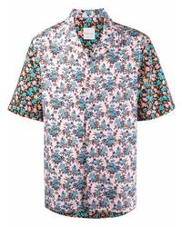Camisa de manga corta con print de flores rosada de Paul Smith