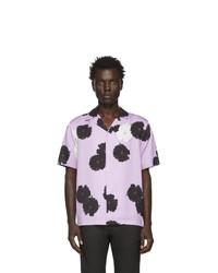 Camisa de manga corta con print de flores violeta claro de Saturdays Nyc