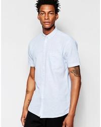Camisa de manga corta de cambray celeste de Minimum