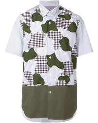 Camisa de manga corta de camuflaje blanca de Junya Watanabe MAN