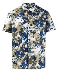 Camisa de manga corta de camuflaje en multicolor de A.P.C.