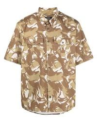 Camisa de manga corta de camuflaje marrón claro de A.P.C.