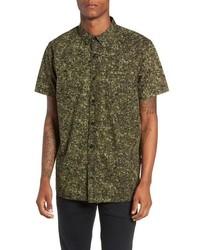 Camisa de manga corta de camuflaje verde oliva