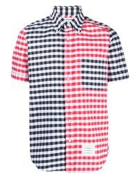 Camisa de manga corta de cuadro vichy en multicolor de Thom Browne