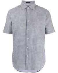 Camisa de manga corta de cuadro vichy en negro y blanco de D'urban