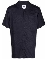 Camisa de manga corta de leopardo azul marino de Vans