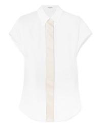 Camisa de manga corta de lino blanca de Brunello Cucinelli