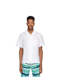Camisa de manga corta de lino blanca de Kenzo