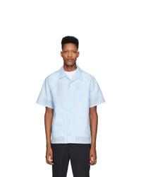 Camisa de manga corta de lino celeste de Kenzo
