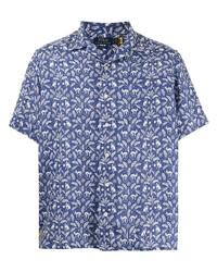 Camisa de manga corta de lino estampada azul de Polo Ralph Lauren