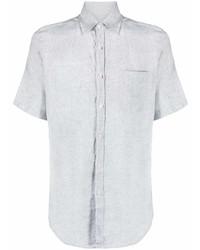 Camisa de manga corta de lino gris de Canali