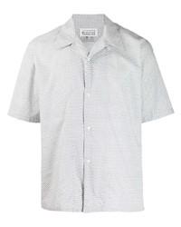 Camisa de manga corta de paisley blanca de Maison Margiela